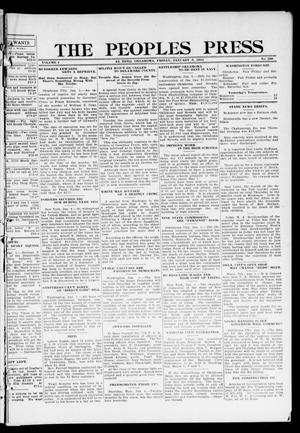 Primary view of object titled 'The Peoples Press (El Reno, Okla.), Vol. 1, No. 280, Ed. 1 Friday, January 5, 1912'.