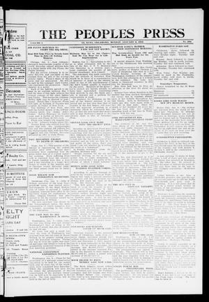 Primary view of object titled 'The Peoples Press (El Reno, Okla.), Vol. 1, No. 282, Ed. 1 Monday, January 8, 1912'.