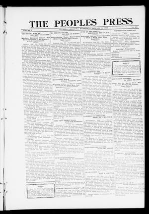 Primary view of object titled 'The Peoples Press (El Reno, Okla.), Vol. 1, No. 284, Ed. 1 Wednesday, January 10, 1912'.