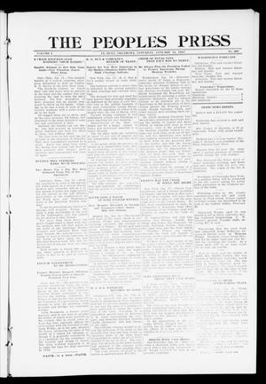 Primary view of object titled 'The Peoples Press (El Reno, Okla.), Vol. 1, No. 287, Ed. 1 Saturday, January 13, 1912'.