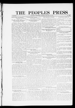 Primary view of object titled 'The Peoples Press (El Reno, Okla.), Vol. 1, No. 288, Ed. 1 Monday, January 15, 1912'.
