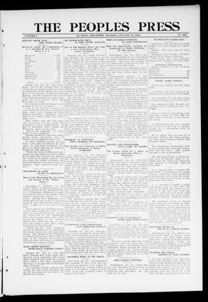 Primary view of object titled 'The Peoples Press (El Reno, Okla.), Vol. 1, No. 301, Ed. 1 Tuesday, January 30, 1912'.