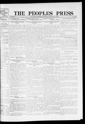 Primary view of object titled 'The Peoples Press (El Reno, Okla.), Vol. 1, No. 305, Ed. 1 Saturday, February 3, 1912'.
