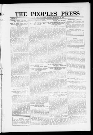 Primary view of object titled 'The Peoples Press (El Reno, Okla.), Vol. 2, No. 5, Ed. 1 Saturday, February 10, 1912'.
