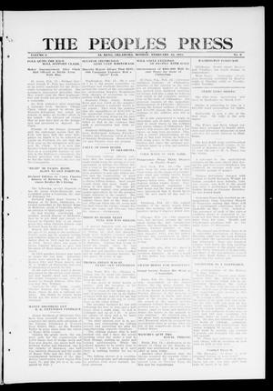 Primary view of object titled 'The Peoples Press (El Reno, Okla.), Vol. 2, No. 6, Ed. 1 Monday, February 12, 1912'.
