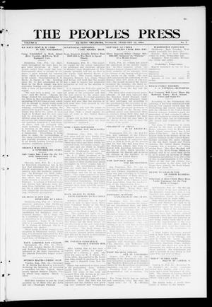 Primary view of object titled 'The Peoples Press (El Reno, Okla.), Vol. 2, No. 7, Ed. 1 Tuesday, February 13, 1912'.