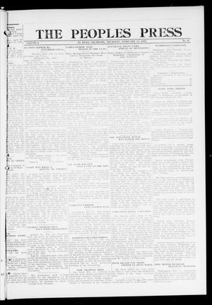 Primary view of object titled 'The Peoples Press (El Reno, Okla.), Vol. 2, No. 9, Ed. 1 Thursday, February 15, 1912'.