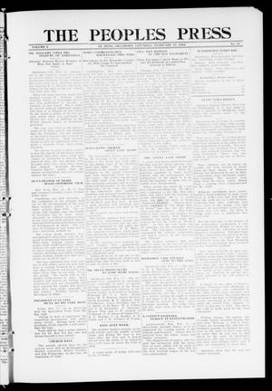 Primary view of object titled 'The Peoples Press (El Reno, Okla.), Vol. 2, No. 11, Ed. 1 Saturday, February 17, 1912'.