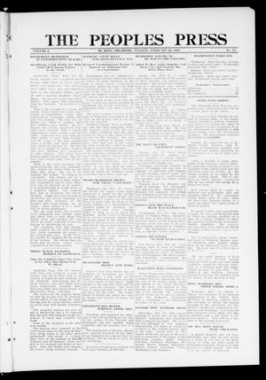 Primary view of object titled 'The Peoples Press (El Reno, Okla.), Vol. 2, No. 13, Ed. 1 Tuesday, February 20, 1912'.