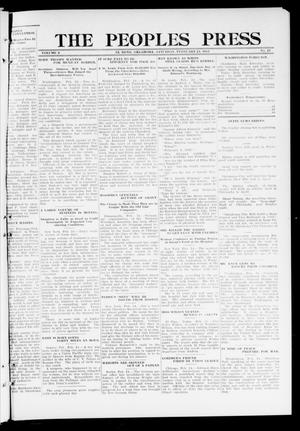 Primary view of object titled 'The Peoples Press (El Reno, Okla.), Vol. 2, No. 17, Ed. 1 Saturday, February 24, 1912'.