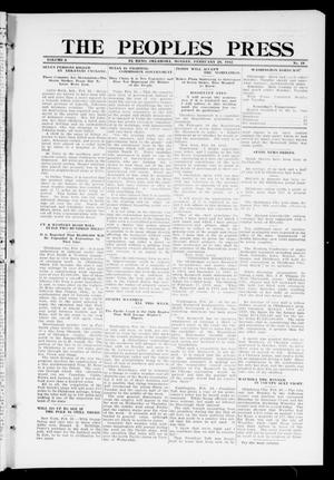 Primary view of object titled 'The Peoples Press (El Reno, Okla.), Vol. 2, No. 18, Ed. 1 Monday, February 26, 1912'.