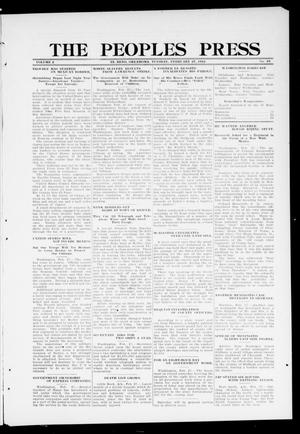 Primary view of object titled 'The Peoples Press (El Reno, Okla.), Vol. 2, No. 19, Ed. 1 Tuesday, February 27, 1912'.