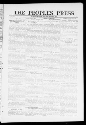 Primary view of object titled 'The Peoples Press (El Reno, Okla.), Vol. 2, No. 23, Ed. 1 Saturday, March 2, 1912'.