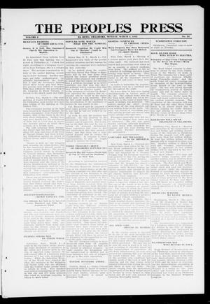 Primary view of object titled 'The Peoples Press (El Reno, Okla.), Vol. 2, No. 24, Ed. 1 Monday, March 4, 1912'.