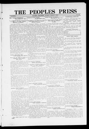 Primary view of object titled 'The Peoples Press (El Reno, Okla.), Vol. 2, No. 25, Ed. 1 Tuesday, March 5, 1912'.