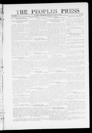 Primary view of object titled 'The Peoples Press (El Reno, Okla.), Vol. 2, No. 33, Ed. 1 Thursday, March 14, 1912'.