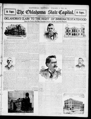 Primary view of object titled 'The Oklahoma State Capital. (Guthrie, Okla.), Vol. 12, No. 247, Ed. 2 Sunday, February 3, 1901'.