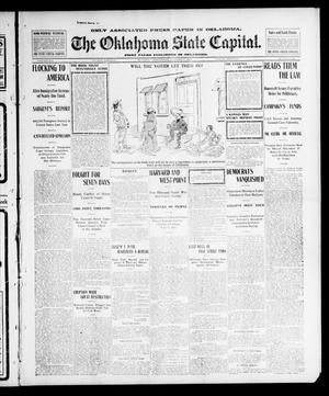 Primary view of object titled 'The Oklahoma State Capital. (Guthrie, Okla.), Vol. 14, No. 151, Ed. 1 Sunday, October 19, 1902'.