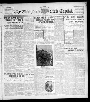 Primary view of object titled 'The Oklahoma State Capital. (Guthrie, Okla.), Vol. 15, No. 249, Ed. 1 Saturday, February 13, 1904'.
