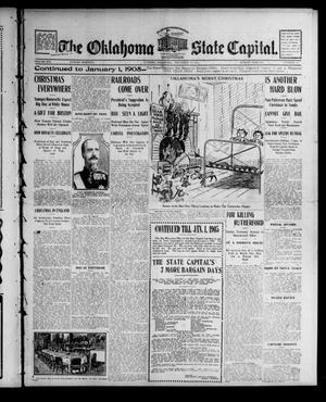 Primary view of object titled 'The Oklahoma State Capital. (Guthrie, Okla.), Vol. 16, No. 212, Ed. 1 Sunday, December 25, 1904'.