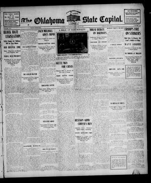 Primary view of object titled 'The Oklahoma State Capital. (Guthrie, Okla.), Vol. 16, No. 241, Ed. 1 Friday, January 27, 1905'.