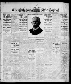 Primary view of object titled 'The Oklahoma State Capital. (Guthrie, Okla.), Vol. 17, No. 41, Ed. 1 Thursday, June 8, 1905'.