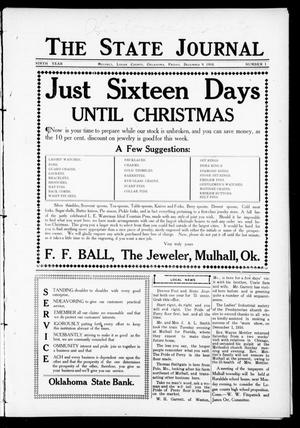 Primary view of object titled 'The State Journal (Mulhall, Okla.), Vol. 9, No. 1, Ed. 1 Friday, December 9, 1910'.
