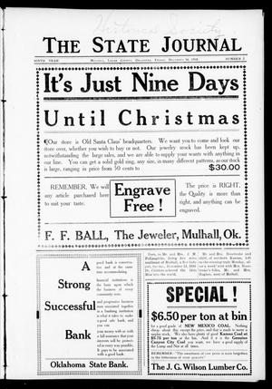 Primary view of object titled 'The State Journal (Mulhall, Okla.), Vol. 9, No. 2, Ed. 1 Friday, December 16, 1910'.