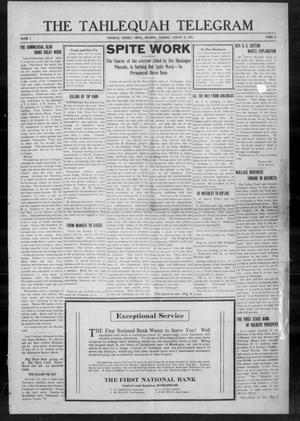 Primary view of object titled 'The Tahlequah Telegram (Tahlequah, Okla.), Vol. 1, No. 23, Ed. 1 Thursday, January 15, 1914'.
