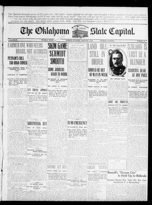 Primary view of object titled 'The Oklahoma State Capital. (Guthrie, Okla.), Vol. 20, No. 266, Ed. 1 Thursday, February 4, 1909'.