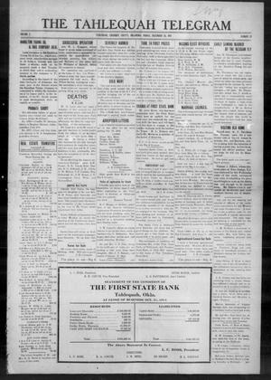 Primary view of object titled 'The Tahlequah Telegram (Tahlequah, Okla.), Vol. 2, No. 19, Ed. 1 Friday, December 18, 1914'.