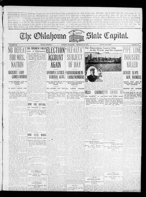 Primary view of object titled 'The Oklahoma State Capital. (Guthrie, Okla.), Vol. 20, No. 285, Ed. 1 Friday, February 26, 1909'.