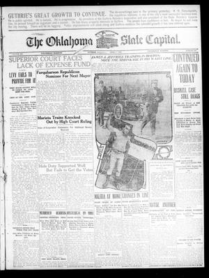 Primary view of object titled 'The Oklahoma State Capital. (Guthrie, Okla.), Vol. 20, No. 296, Ed. 1 Wednesday, April 7, 1909'.