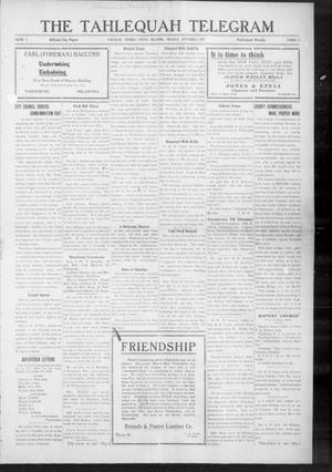 Primary view of object titled 'The Tahlequah Telegram (Tahlequah, Okla.), Vol. 4, No. 5, Ed. 1 Thursday, September 7, 1916'.