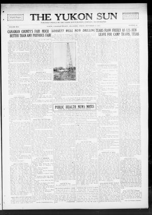 Primary view of object titled 'The Yukon Sun (Yukon, Okla.), Vol. 25, No. 48, Ed. 1 Friday, September 21, 1917'.