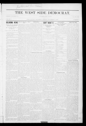 Primary view of object titled 'The West Side Democrat. (Enid, Okla.), Vol. 1, No. 9, Ed. 1 Tuesday, November 21, 1893'.