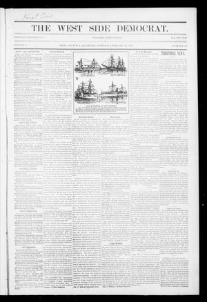 Primary view of object titled 'The West Side Democrat. (Enid, Okla.), Vol. 1, No. 18, Ed. 1 Tuesday, February 20, 1894'.