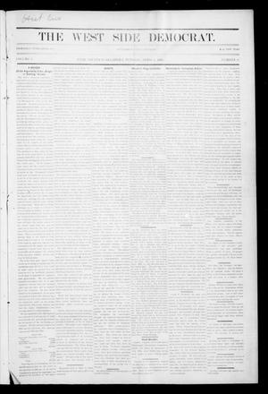 Primary view of object titled 'The West Side Democrat. (Enid, Okla.), Vol. 1, No. 24, Ed. 1 Tuesday, April 3, 1894'.