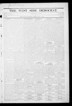 Primary view of object titled 'The West Side Democrat. (Enid, Okla.), Vol. 1, No. 27, Ed. 1 Tuesday, April 24, 1894'.