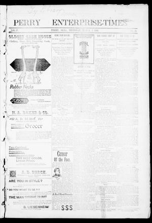 Primary view of object titled 'Perry Enterprise-Times. (Perry, Okla.), Vol. 4, No. 25, Ed. 1 Thursday, March 3, 1898'.