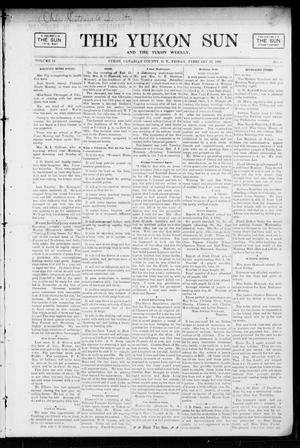 Primary view of object titled 'The Yukon Sun And The Yukon Weekly. (Yukon, Okla. Terr.), Vol. 13, No. 8, Ed. 1 Friday, February 17, 1905'.