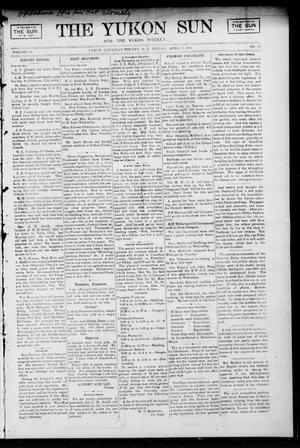 Primary view of object titled 'The Yukon Sun And The Yukon Weekly. (Yukon, Okla. Terr.), Vol. 13, No. 14, Ed. 1 Friday, April 7, 1905'.