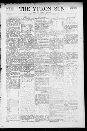 Primary view of object titled 'The Yukon Sun And The Yukon Weekly. (Yukon, Okla. Terr.), Vol. 13, No. 15, Ed. 1 Friday, April 14, 1905'.
