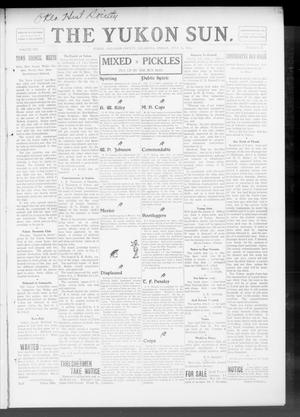 Primary view of object titled 'The Yukon Sun. (Yukon, Okla.), Vol. 16, No. 28, Ed. 1 Friday, July 10, 1908'.