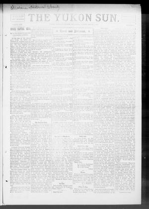 Primary view of object titled 'The Yukon Sun. (Yukon, Okla.), Vol. 17, No. 9, Ed. 1 Friday, March 5, 1909'.