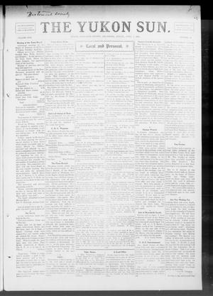 Primary view of object titled 'The Yukon Sun. (Yukon, Okla.), Vol. 17, No. 14, Ed. 1 Friday, April 9, 1909'.