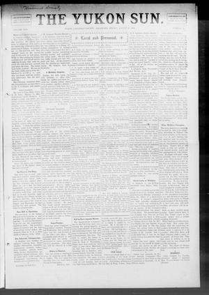 Primary view of object titled 'The Yukon Sun. (Yukon, Okla.), Vol. 17, No. 33, Ed. 1 Friday, August 20, 1909'.