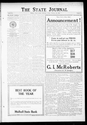Primary view of object titled 'The State Journal (Mulhall, Okla.), Vol. 10, No. 11, Ed. 1 Friday, February 16, 1912'.