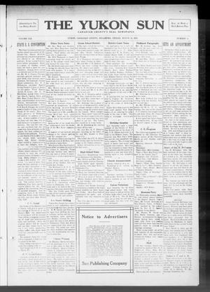 Primary view of object titled 'The Yukon Sun (Yukon, Okla.), Vol. 21, No. 14, Ed. 1 Friday, March 14, 1913'.