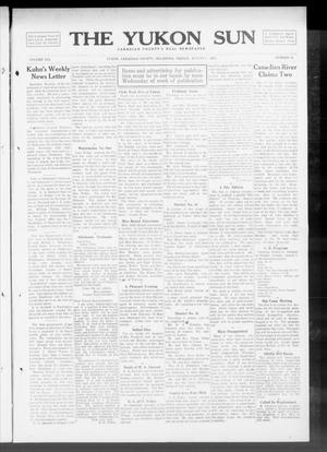 Primary view of object titled 'The Yukon Sun (Yukon, Okla.), Vol. 21, No. 34, Ed. 1 Friday, August 1, 1913'.